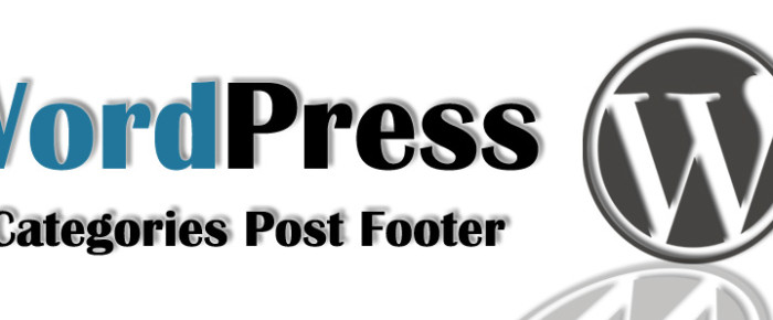 (中文) [WordPress] Add Categories Post Footer:根據分類加入置底文!